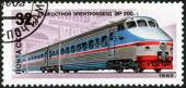 "Stamp of ""Trains and locomotives USSR"" — Stock Photo"