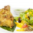 Chicken in curry with salad — Stock Photo #70199269