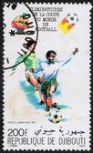 Stamp printed in Republique De Djibouti,  Soccer — Stock Photo