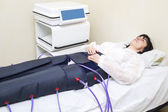 Woman at the clinic on procedure — Stock Photo