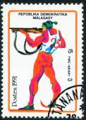 Stamp printed in Malagasy — Stock Photo