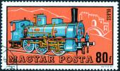 Stamp with old train — Stock Photo