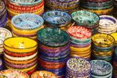 Placas coloridas marroquinas — Fotografia Stock