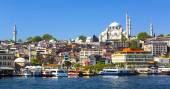 Panorama of view from the Golden Horn — Stock Photo