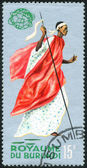 Stamp from series of culture and folklore — Stock Photo
