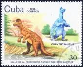 Stamp with Prehistoric Animal — Стоковое фото
