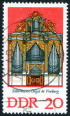Stamp with musical organ — Stock Photo