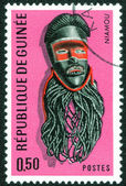 African tribal mask stamp — Stock Photo