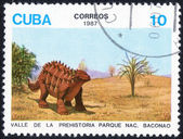 Printed stamp with Dinosaur — Стоковое фото
