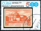 Stamp printed by Cuba — Stock Photo