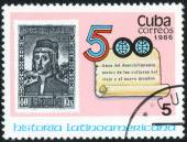 Stamp printed by Cuba — Stock fotografie