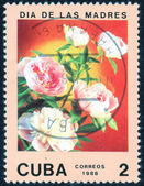 Stamp from series Flowers — Stock Photo