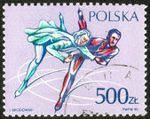 Stamp printed in the Poland — Foto de Stock