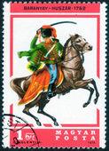 Stamp printed in Hungary — Foto de Stock