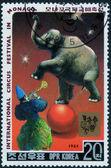Stamp printed in DPR Korea — Zdjęcie stockowe