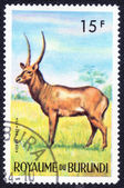 Stamp printed in Republic of Burundi — Стоковое фото