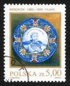 Stempel gedrukt in Polen — Stockfoto