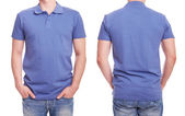 Young man with blue polo shirt — Stock Photo