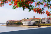 Panama City view old casco viejo antiguo — Stock Photo