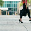 Business woman commuting going to office by walk — Stock Photo #67202867
