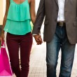 African American Couple Shopping With Bags In Panama City — Stock Photo #72845285