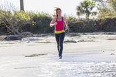Brunette Fitness Jogger — Stockfoto