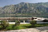 Embankment and a small dock in the Montenegro. — Stock Photo