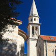 Catholic Cathedral Church of St. John in Budva. Montenegro — Stock Photo #56047891