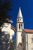 Catholic Cathedral Church of St. John in Budva. Montenegro  — Stock Photo