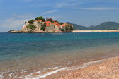 Respectable resort of Sveti Stefan island in Adriatic sea — Stock Photo