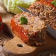 Meat loaf close-up on a cutting board. horizontal — Stock Photo #58884833