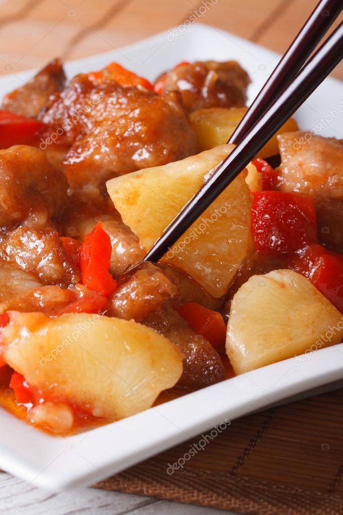 Свинина в сладко кислом соусе | Время быстрых рецептов