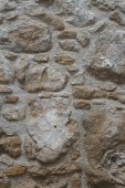 Sample of old stonework wall close-up. vertical  — Stock Photo