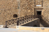 Bridge to the old fortress. Paphos Cyprus — Stock Photo