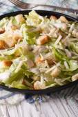 Caesar salad with croutons and parmesan close-up — Stock Photo