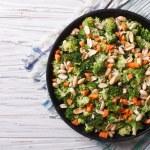 Summer salad with broccoli and peanuts closeup horizontal top vi — Stock Photo #77756132