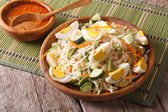 Gado Gado Indonesian vegetable salad close-up. horizontal — Stock Photo