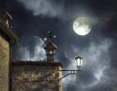 Night above the roofs — Stock Photo