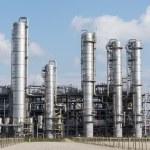 Chemical oil plant equipment petrol distillery — Stock Photo #55157549