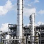 Chemical oil plant equipment petrol distillery — Stock Photo #55158099