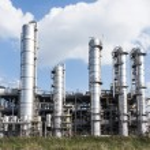Chemical oil plant equipment petrol distillery — Stock Photo #55158791