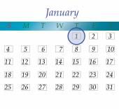 New years calendar — Stock Photo