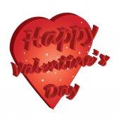 Giorno di San Valentino a forma di cuore — Foto Stock