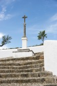 Cross at the church in loule   — Stock Photo