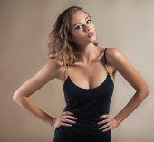 Beautiful model portrait in studio — Stock Photo