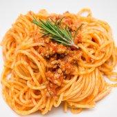 Spaghetti with ragout — Stockfoto