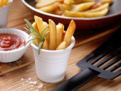 Portion of french fries — Stock Photo