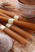 Organic wholemeal spaghetti — Stock Photo