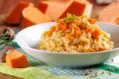 Pumpkin risotto on the plate — Stock Photo