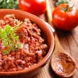 Meat sauce in the bowl — Stock Photo #58798061